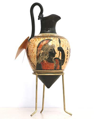 Greek Ancient Ceramic RHYTON Vase Pottery Painting Goddess Athena -