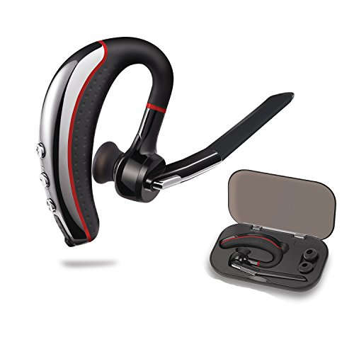 Bluetooth Headset,HandsFree Wireless Earpiece V4.1 Bluetooth Headphones Lightweight Earphones In-ear Earbuds with Mic for Office/Business/Workout/Driving and iPhone/Android Cell Phones from Ansion