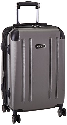 Heritage O'Hare 20 Inch 8-Wheel Carry-On Luggage, Silver, One Size