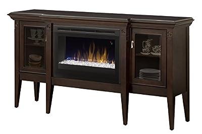 """Dimplex GDS25G5-1253E Espresso Upton w/25"""" Firebox and Glass Ember Bed"""