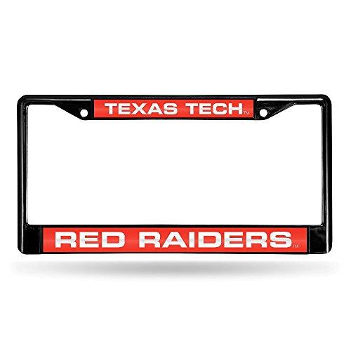 NCAA Texas Tech Red Raiders Laser Cut Inlaid Standard Chrome License Plate Frame, ()