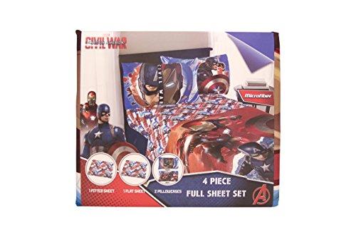 Marvel Captain America 'Civil War' Warriors Full Sheet Set
