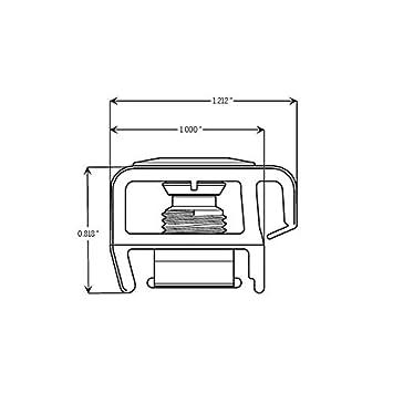 Endura Composite Exterior Door Z-Series Adjustable Threshold Cap Dark Walnut