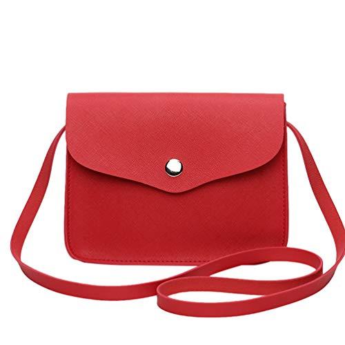 Hombro De Mujer Color Crossbody Bolsos Para Bandolera Cuero Sólido Rojo Bolsa Pu Señora Pequeño Mini Bolsos Tote WanYangg Bolsos qAwpYXHY