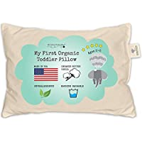 Toddler Pillow - ORGANIC Cotton MADE IN USA - Washable...