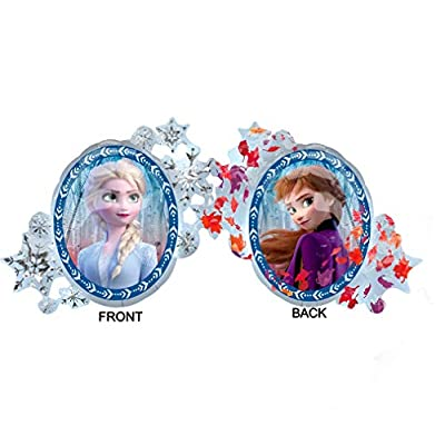 Frozen 2 Party Supplies 4th Birthday Elsa, Anna and Olaf Balloon Bouquet Decorations - Purple Number 4: Toys & Games