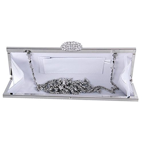 Cristal Soirée Sac Ergeob® Main Partie Mariage À Argent Pour Soiree Pochette De Femmes Diamant qpYY4FRwt6