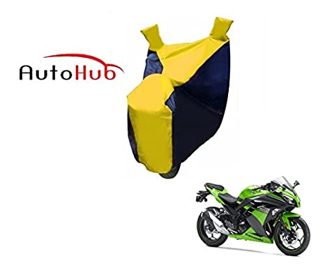 Auto Hub Black Yellow Bike Body Cover For Kawasaki Ninja Zx6r
