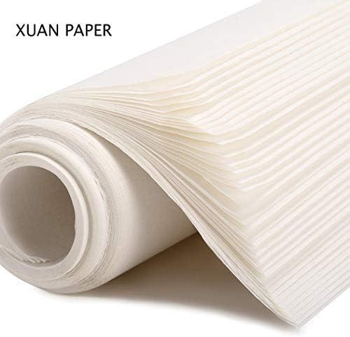 STOBOK Sumi Papier Reispapier Xuan Papier für Chinesische Kalligraphie Schreiben Malen, 100 Blatt