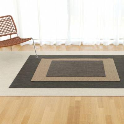 Chilewich Inside/outside Basketweave Floormat Small Runner Khaki 26'' X 72''