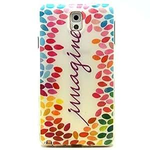 YULIN imaginar patrón de la palabra arte ultrafina TPU caso suave para Samsung Galaxy Note 3