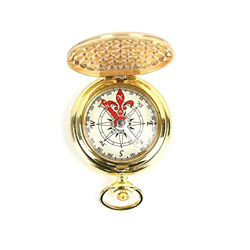 DETUCK(TM) Pocket Compass Outdoor Compass Antique Hiking Hunting Camping Survival Compass Metal Compass Tool