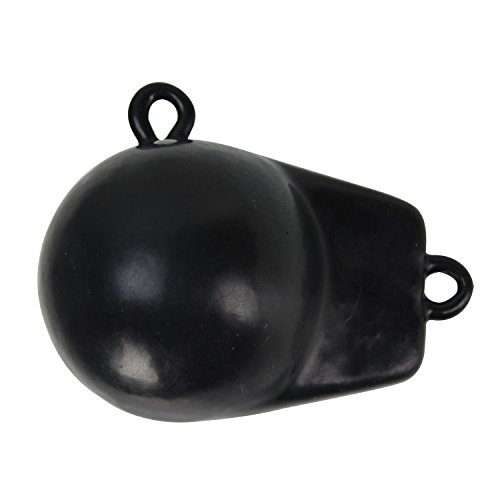 Extreme Max Black 3006.6723 Coated Ball-with-Fin Downrigger Weight-4 lbs