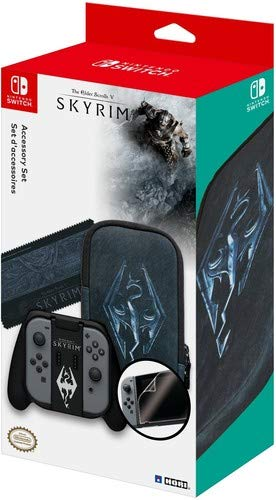 HORI The Elder Scrolls V Skyrim Limited Edition Accessory Set for Nintendo Switch Officially Licensed by Nintendo & Bethesda - Nintendo Switch