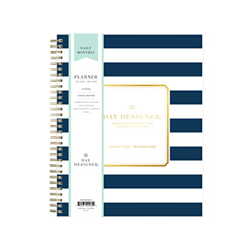 Day Designer for Blue Sky 2020 Daily & Weekly Planner, Frosted Flexible Cover, Twin-Wire Binding, 8