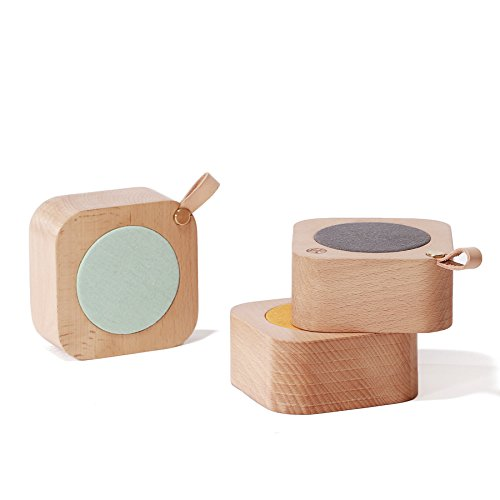Aiweasi Simple Wooden Music Box For College Graduation Souvenir With Music of Castle in the Sky-Sky Blue by Aiweasi (Image #1)