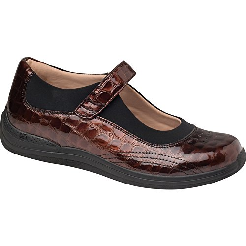 Drew Leather Mary Janes (Drew Shoe Women's Rose Mary Jane,Brown Croc,11 WW US)