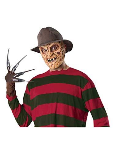 Deluxe Freddy Krueger Fedora Hat Nightmare on Elm Street Costume Accessory (Freddy Krueger Adult Fedora)