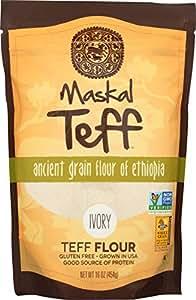 Amazon.com : Maskal Teff Ivory Teff Flour, 16 Ounce