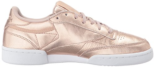 Club Pearl Peach Reebok Melted Classics Sneakers Metal C White 85 Women's Metallic HvvOq8Z