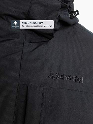 Schöffel Insulated Jacket Belfast2, wind- und wasserdichte Winterjacke, warme und atmungsaktive Outdoor Jacke mit höchstem Tragekomfort Herren, black, 48 5