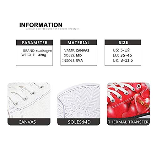 Canvas Low Top Sneaker Casual Skate Shoe Mens Womens Mighty Cock Rooster Head Ready to Attack