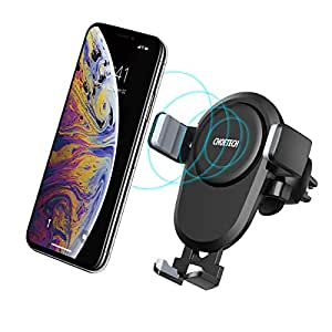 CHOETECH Wireless Car Charger, Qi Fast Wireless Charger Car Phone Mount Air Vent Stand,7.5W Compatible with Apple iPhone XS/XS Max/XR/X/8, 10W for SamSung S10/S9/S8/Note 9/8, 5W for All Qi-enabled