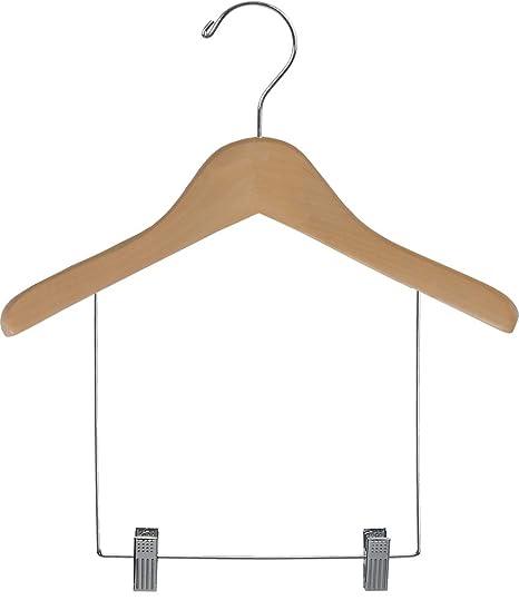 Amazon.com: Niños de Madera visualización percha de ropa con ...