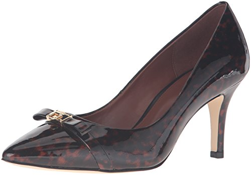 Cole Haan Women's Juliana Detail 75mm Dress Pump, Tortoise Patent, 7.5 B US (Cole Juliana 75 Haan)