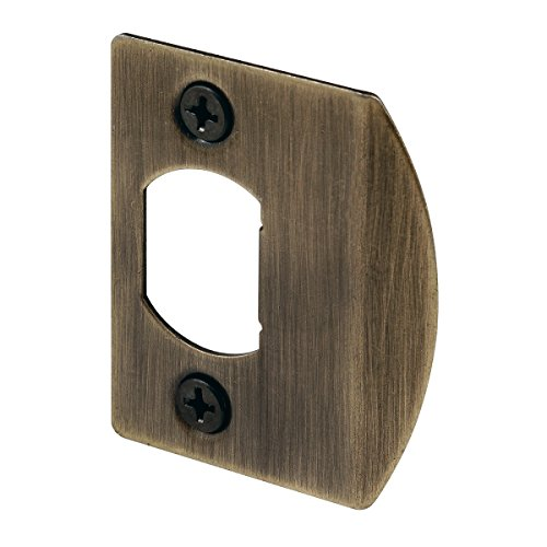 Defender Security E 2233 Standard Latch Strike, 1-5/8 in. Hole Spacing, Steel, Antique Brass Plated Finish, Pack of 2