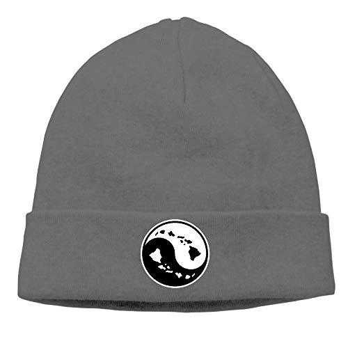 ZLOO-99 Men/Women Fashion Hawaiian Islands Ying Yang Skull Cap Beanie Hat