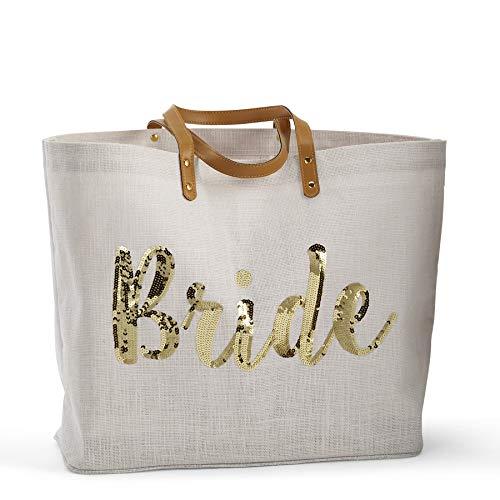 Mud Pie Sequin Bride Tote Bag