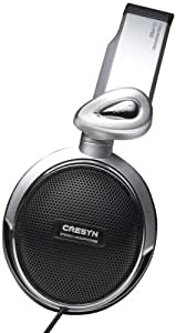 Cresyn CS-HP600 Hi-Fi Stereo Over-Ear Headphones with Titanium Driver Technology and Fold Down Design For Easy Storage (Black)