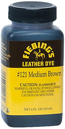 Fiebing's Leather Dye, Medium Brown, 4 oz. -