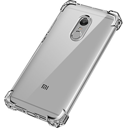 new product ebcbf 82ce1 Tarkan Shock Proof Protective Soft Transparent Back Case Cover for Xiaomi  Redmi Note 4 [Bumper Corners] - Perfect fit for Indian Version