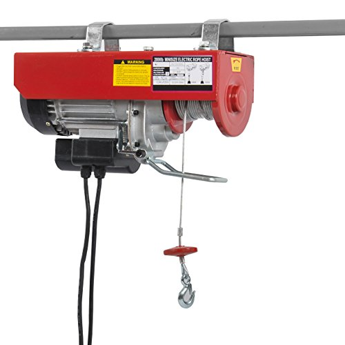 ARKSEN Electric Hoist Motor Overhead Winch Crane Lift w/ Remote Control, 2000 LB Capacity