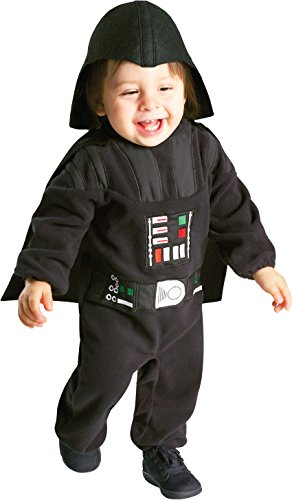 Rubie's Costume Star Wars Darth Vader Romper, Black, 12-24 Months - Comfortable Toddler Halloween Costumes