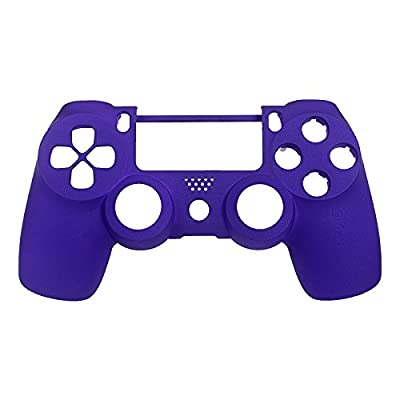 eXtremeRate® Purple Soft Touch Front Upper Shell Faceplate Replacement Parts for PS4 Controller from Extremerate