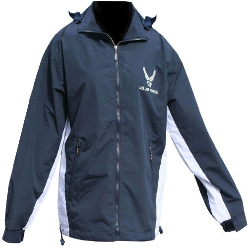 US Air Force Jacket Reversible Detachable Hood Fleece & Nylon All Weather Jacket