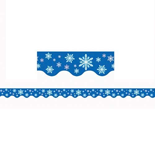 Teacher Created Resources Snowflakes Border Trim, Multi Color (4139)