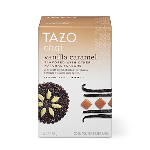 Tazo Vanilla Caramel Chai Black Tea Filterbags , 20 Count (Pack of 6) Vanilla Chai Black Tea