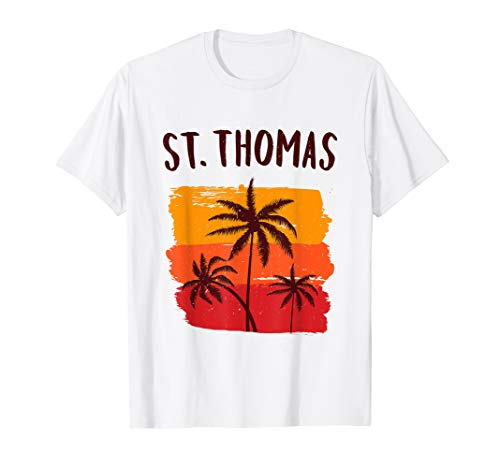 St Thomas Tropical Cruise Palm Trees Vacation Souvenir Gift T-Shirt