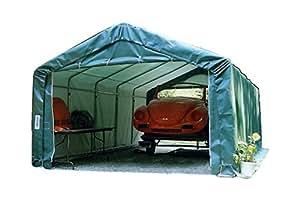 Amazon.com : House-style 12x20x8 Portable Carport Garage ...