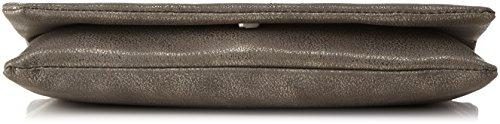s.Oliver (Bags) 39.711.94.8092 - Pochette da giorno Donna, Grau (Grey/black Aop), 2x13.5x26.5 cm (B x H T)