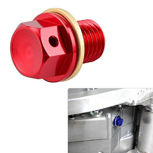 NICECNC 12mm P1.5 Red Magnetic Oil Drain Plug Bolt for 848/EVO/1098 R/S/1198 R/S All Monster 696/796/ABS 2010-821/1100/EVO/1200 2010- Diavel 2011- Hyperstrada 2014-