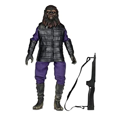 "NECA Planet of The Apes Clothed 8"" Classic Gorilla Soldier Action Figure: Toys & Games"