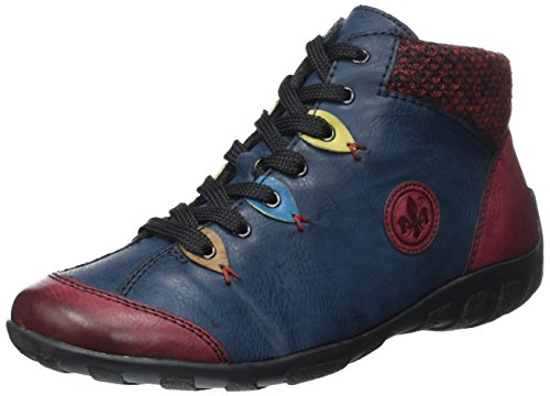 Boots L6513 Rot Rieker wine Women brandy navy blue 37 Ankle azz RxPExZC