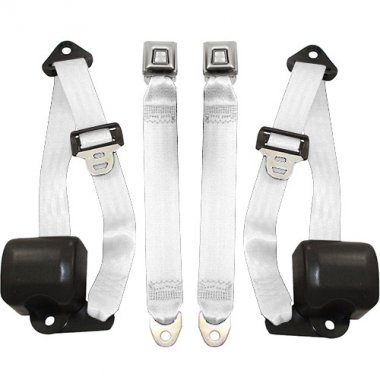 Jeep Wrangler Front Seat Belts, White