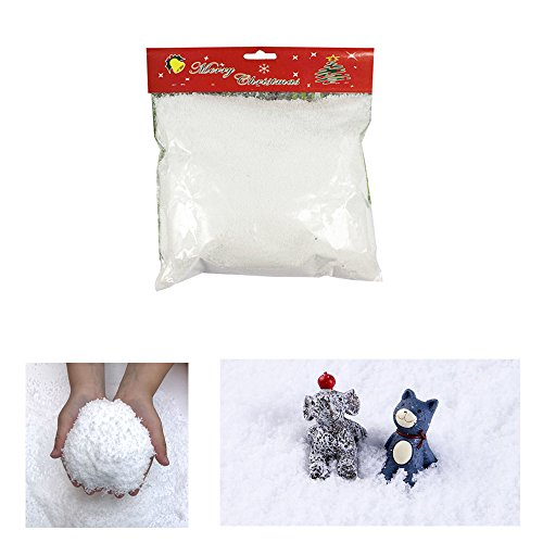 Zinnor Instant Snow Powder, Fake Artificial Snow for Slime - Mix Fluffy White Fake Snow for Slime - Best Gifts for Science Activities, Play Dates, Parties, Games, Decoration, Holiday by Zinnor