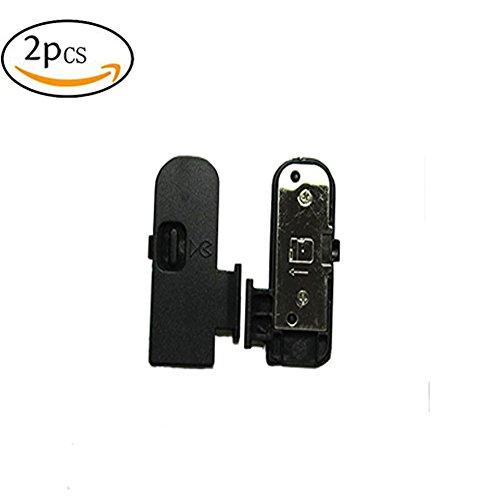 (2PCS) Battery Door Cover Lid Cap Replacement Shenligod for Nikon D3200 D3300 D5200 D5300 SLR Digital Camera Repair Part